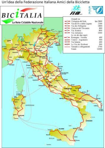 Fietsroutes Italië