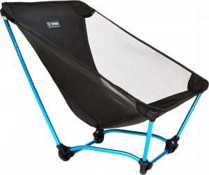 De Ground chair. Tot nu toe, met 600 gram de lichtste stoel van Helinox. Nadeel van deze stoel is de lage zit.